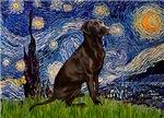 STARRY NIGHT<br>& Chocolate Labrador Retriever