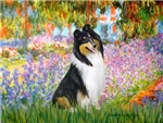 GARDEN AT GIVERNEY<br>& Tri Color Collie