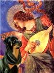 ANGEL WITH MANDOLIN<br>& Rottweiler #5