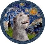 STARRY NIGHT (WREATH)<br>& Irish Wolfhound