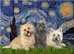 STARRY NIGHT<br> & Cairn Terrier Trio