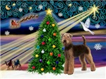 CHRISTMAS MAGIC<br>& Airedale Terrier