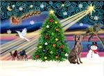 CHRISTMAS MAGIC<br>& Weimaraner #2