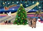 CHRISTMAS MAGIC<br>Two Yorkies (P3)