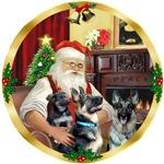 SANTA AT HOME<br>& 2 German Shepherds