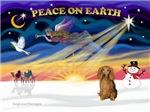 CHRISTMAS SUNRISE<br>& Dachshund LH