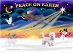 CHRISTMAS SUNRISE<br>& West Highland Terrier