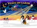 CHRISTMAS SUNRISE<br>& 2 Collies