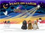 CHRISTMAS SUNRISE<br>& 3 Cocker Spaniels