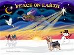 CHRISTMAS SUNRISE<br>& Silky Terrier