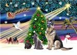 CHRISTMAS MAGIC &<br>German Shepherd / 2 Cats