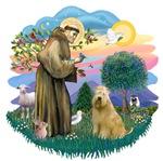 St. Francis #2 &<br> Wheaten Terrier #2