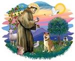St. Francis #2 &<br> Shiba Inu