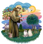 -St. Francis (ff) with<br>Ragdoll Cats (two)
