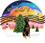CHRISTMAS MUSIC #2<br>Doberman (Nat. ears)