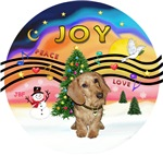 CHRISTMAS MUSIC #2<br>Wire Haired Dachshund (F)