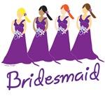 Purple Bridesmaid T-shirts and Wedding Favors