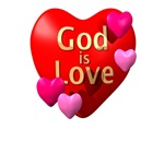 God is Love Religious Valentine T-shirts and Gifts