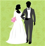 Bride and Groom Shower Curtain and Gifts