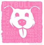 Pitbull Love - pink
