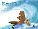 teddy bear surfing