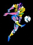 Soccer Player Abstract Painting Print