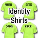 Identity Shirts - Back Only Print Only