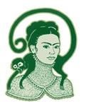 Frida with Green Monkey