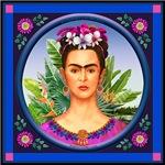 Frida in Blue Square
