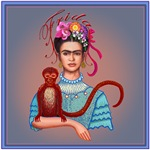 4.Frida with Red Monkey