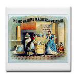 Vintage Women Washing