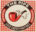 Vintage Pipe Matchbox Logo