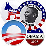Collectible Obama Presidential Legacy Buttons & Ma