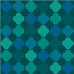 Decorative Quaterfoil Variations Of Blue