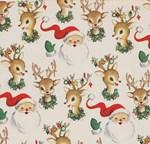 Vintage Santa and Rudolph