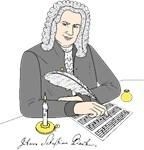 Johann Sebastian Bach as drawing