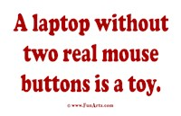 A laptop without two REAL mouse buttons is a toy
