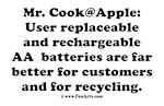 Use AA Rechargeable Batteries