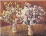Two Vases of Chrysanthemums