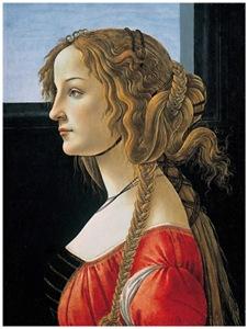 Botticelli portrait of Simonetta Vespucci