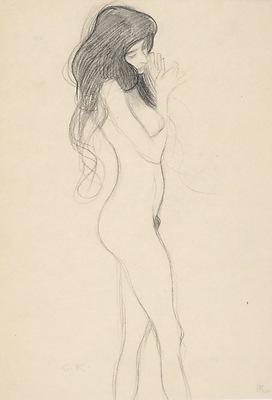 Klimt - sketch Standing Female Nude