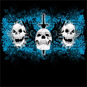 Over 30 Grimm Apparel 3 Skull T-Shirts