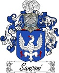 Sansoni Family Crest, Coat of Arms