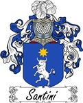 Santini Family Crest, Coat of Arms