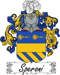Speroni Family Crest, Coat of Arms