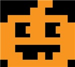8 Bit Pixel Jack O Lantern Pumpkin