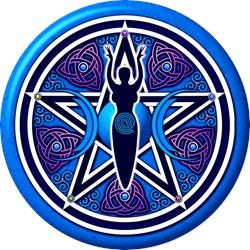 Blue-Purple Goddess Pentacle