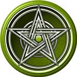 Green Pentacle w/inlay