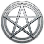 Silver Metal Pagan Pentacle