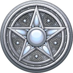 Silver Moonstone Pentacle